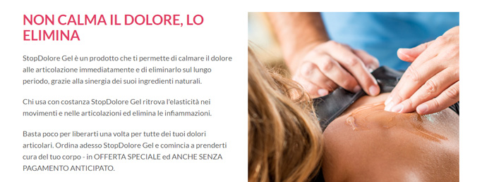 Come applicare StopDolore Gel