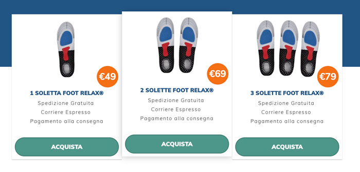 Prezzo di Foot Relax