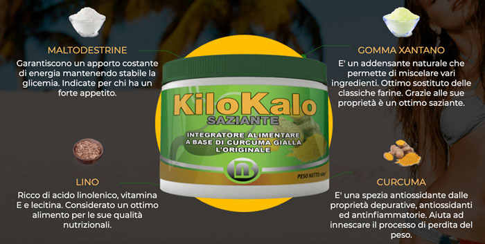 Ingredienti di Kilokalo