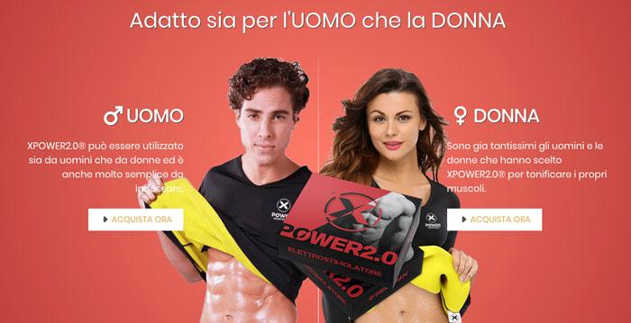 Elettrostimolatore per uomini e donne Xpower 2.0