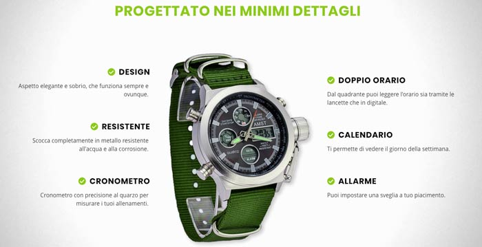 Caratteristiche di X Technical Watch