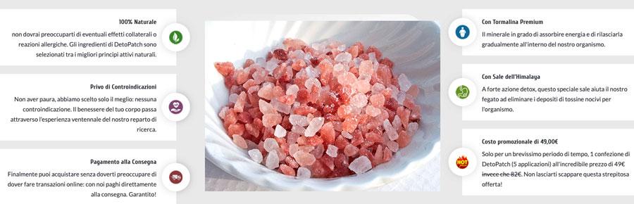 Come agiscono i cerotti di sale Detopach