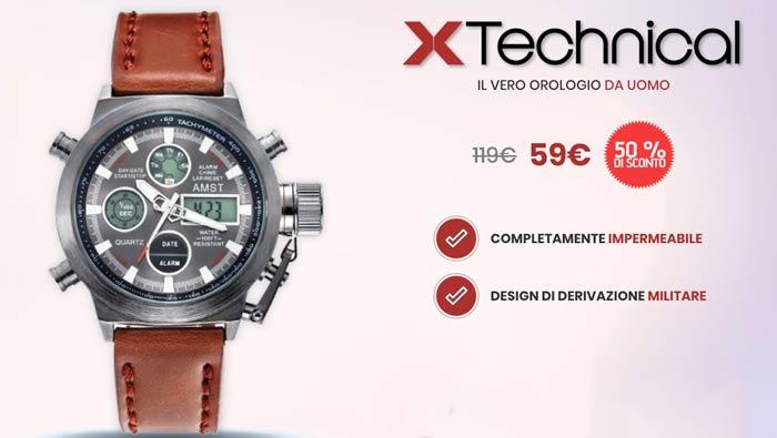 più tardi qualità sporco a buon mercato Orologio X Technical Watch - Come funziona? Recensione, opinioni e ...
