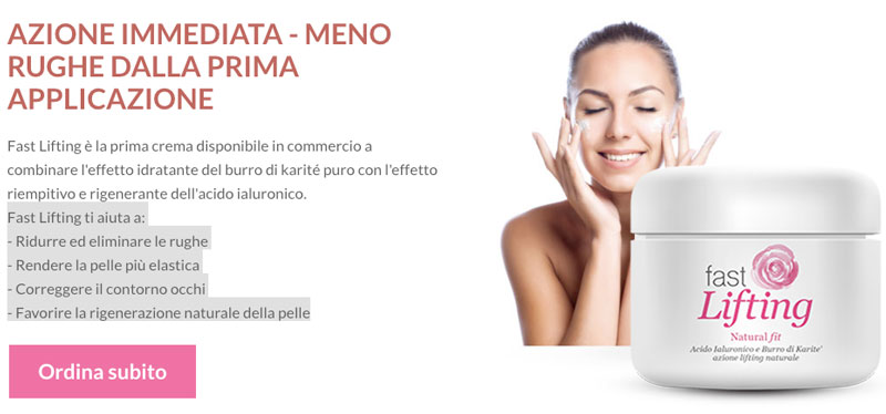 Come funziona Fast lifting crema anti age