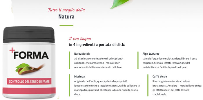 Ingredienti di +Forma