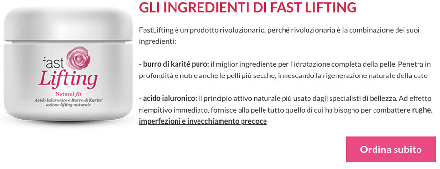 Ingredienti di Fast Lifting