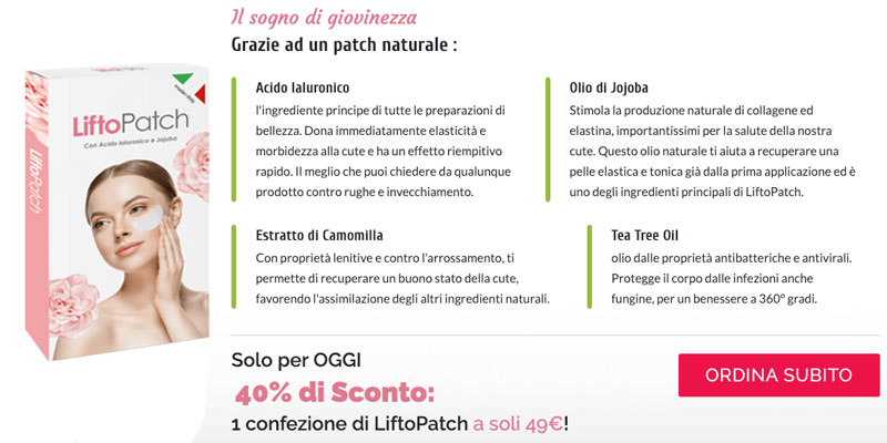 Ingredienti di Liftopatch