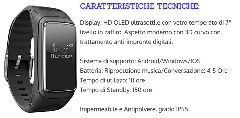 Funzioni di Earphone Fit Watch