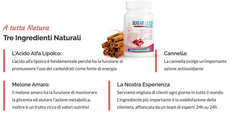 Ingredienti di Sugar Less