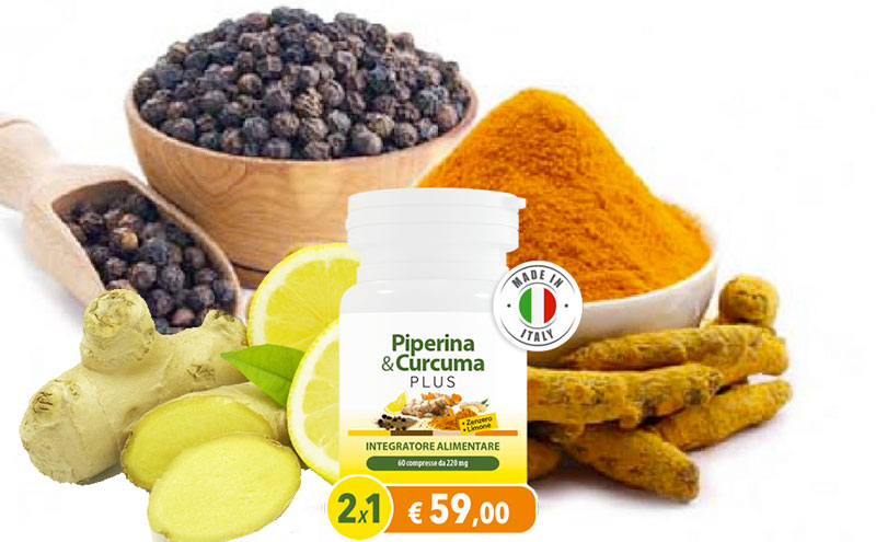 Ingredienti di Piperina E Curcuma Plus