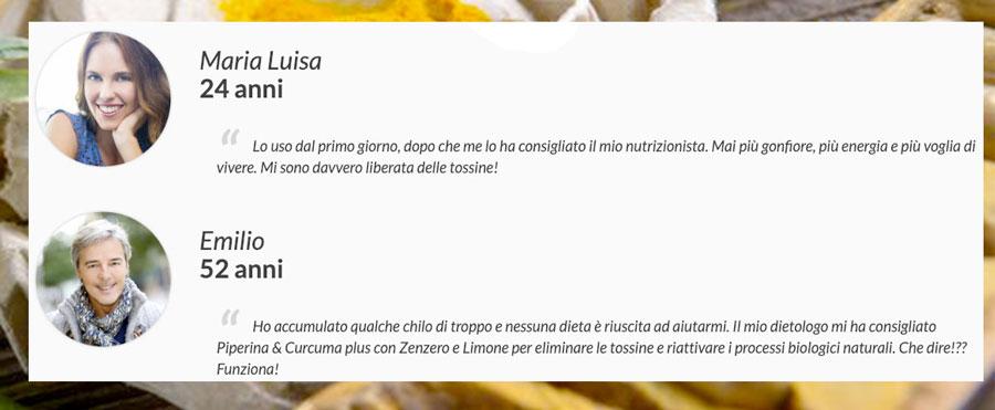 Piperina E Curcuma Plus opinioni testimonianze