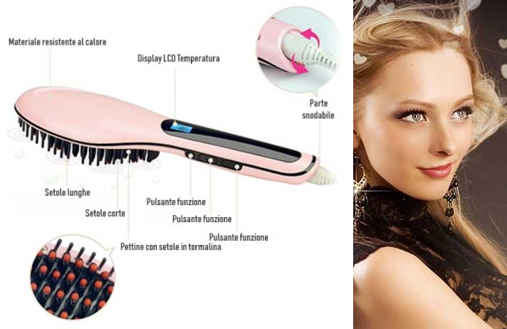 Spazzola lisciante Hair brush Pro Edition