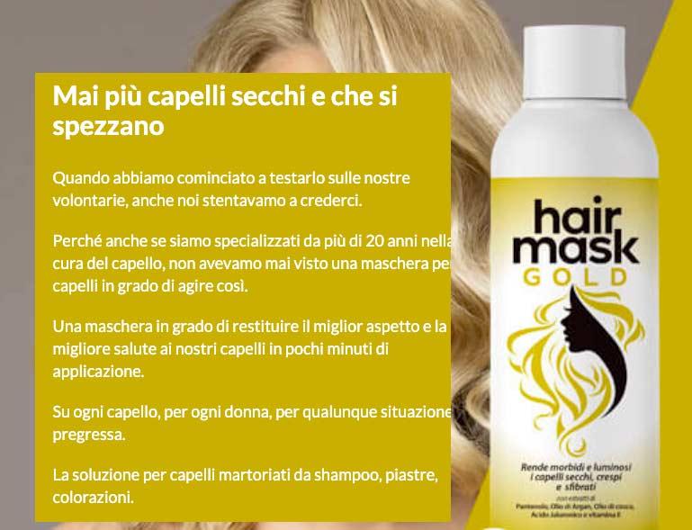 Come funziona Hair Mask Gold