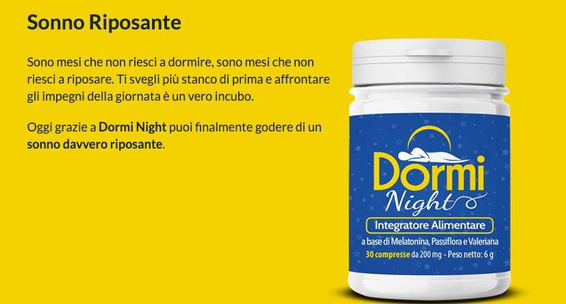 caratteristiche di Dormi Night
