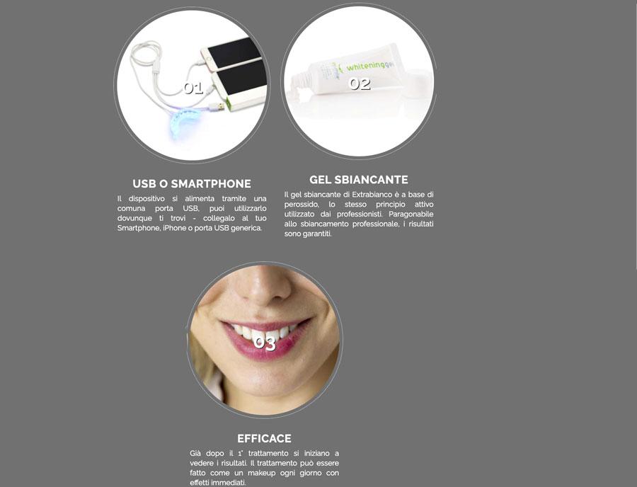 Caratteristiche di Extrabianco kit per denti