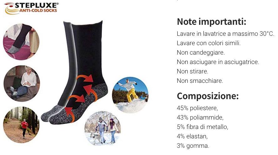 Caratteristiche delle calze Anti Cold Socks