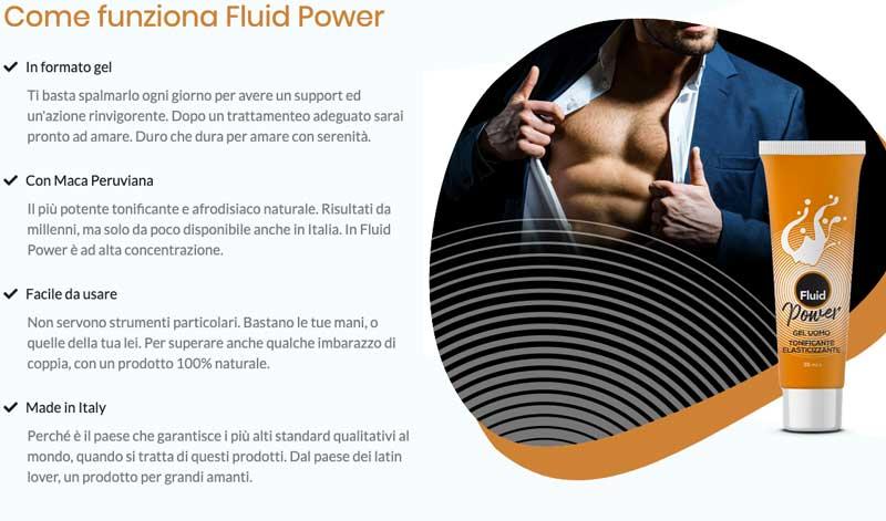 come funziona Fluid Power Gel