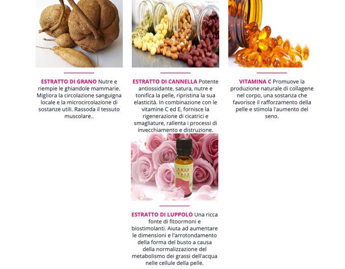 Ingredienti delle capsule Mammax